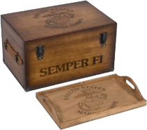 USMC Wooden Footlocker