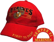 Marines EST 1775 First To Fight Ball Cap