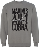 Marines AH-1 Cobra Crew Neck Sweatshirt