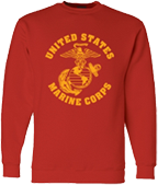Large Marine Corps Design Sweatshirt