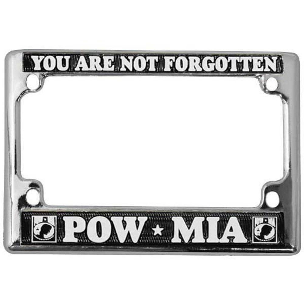 POW MIA Motorcycle License Plate Frame | eMarinePX.com