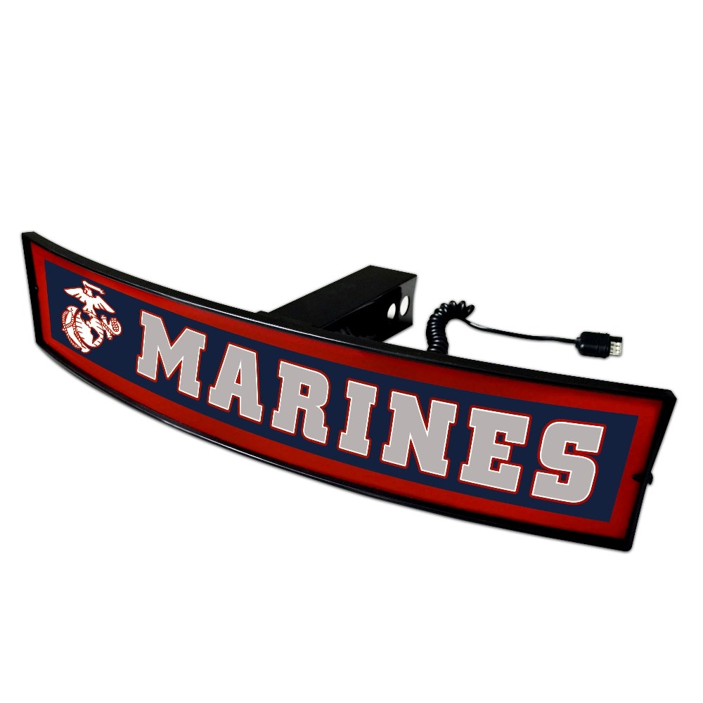 Marines Lighted Hitch Cover