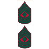1st SGT Red/Green Chevron Decal***