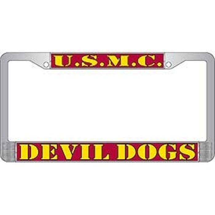 U.S.M.C. Devil Dogs License Plate Frame | eMarinePX.com