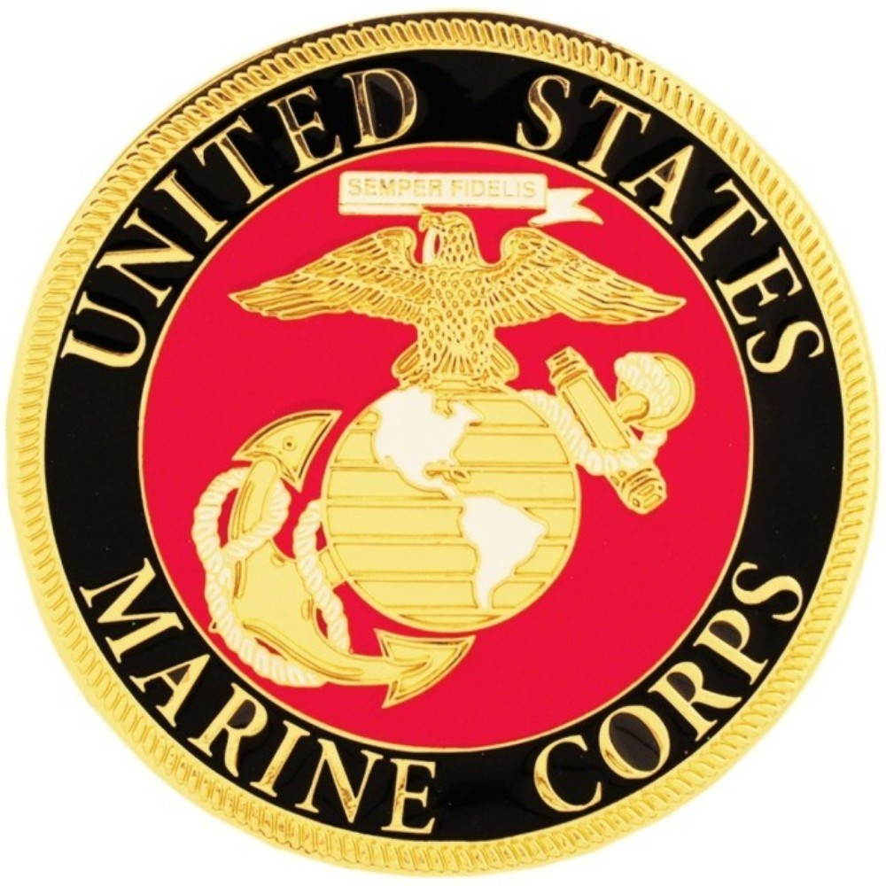 Us Marine Corps Auto Grill Badge Emarinepx