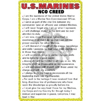 U.S. Marines NCO Creed Poster | eMarinePX.com