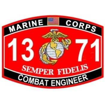 1371 Combat Engineer Patch | MOS Patches | eMarine PX