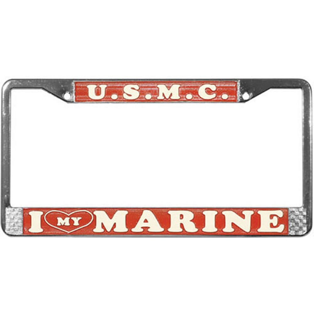 I Love My Marine License Plate Frame | eMarinePX.com